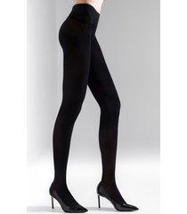 natori revolutionary tights, women's, black, microfiber, size l/xl natori