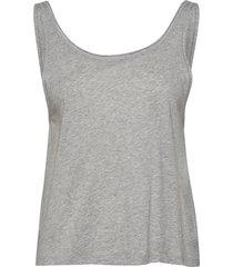 flow deep back tank t-shirts & tops sleeveless grijs filippa k soft sport