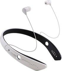 audífonos bluetooth manos llibres inalámbricos, bm-170 deportes audifonos bluetooth manos libres  auricular cuello headset para el teléfono (blanco)