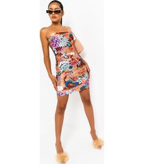 akira mess with your head dragon print mini dress