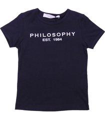 philosophy di lorenzo serafini black cotton jersey t-shirt