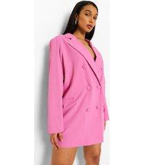oversized getailleerde blazer jurk, pink