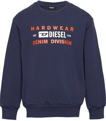 sgirkk10 over sweat-shirt sweat-shirt trui blauw diesel