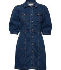debbie 3/4 short dress korte jurk blauw soft rebels