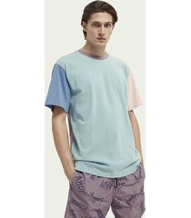 scotch & soda colour block relaxed-fit cotton t-shirt