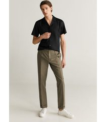 regular-fit overhemd van katoen en lyocell