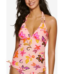 hula honey juniors' endless tropical tankini top, created for macy's women's swimsuit