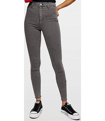 grey belt loop joni skinny jeans - grey