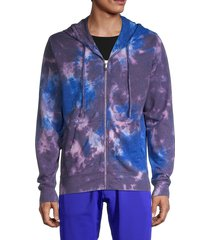 true religion men's tie-dyed full-zip hoodie - purple multicolor - size m