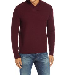 men's schott nyc waffle knit thermal wool blend pullover, size xx-large - red