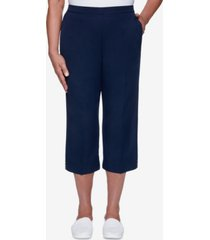 alfred dunner women's missy anchor's away heat set cuff capri pants