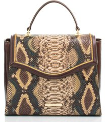 brahmin ingrid savino folklore leather satchel