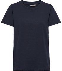 zashoulder 1 t-shirt organic t-shirts & tops short-sleeved blå fransa