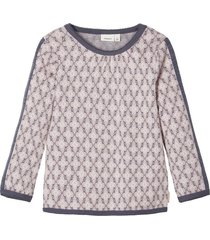 t-shirt met lange mouwen wol-katoen mix