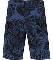 bermuda hombre hojas largas color azul, talla 40