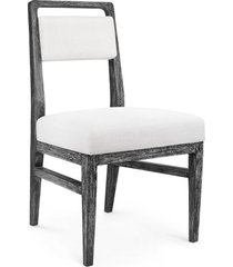 bungalow 5 james traditional black limed cape lilac mahogany side chair set of 2