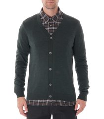 none of the above merino wool cardigan olive - nota8004a