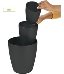 mind reader 3 pc office set bin set - desktop and bath bin set, black