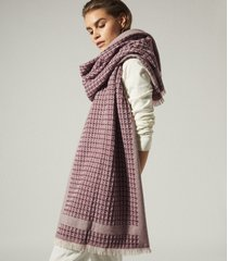 reiss claire - textured scarf in berry, womens