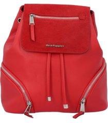 mochila cuir back rojo mujer