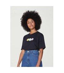 camiseta unissex manga curta com estampa smiley® - 4fhlxleen6