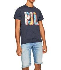 camiseta azul-multicolor pepe jeans