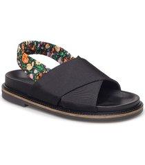 mona shoes summer shoes flat sandals svart ganni