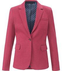 blazer van visgraatweefstof met reverskraag van gant roze