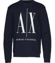 ax man sweatshirt sweat-shirt tröja blå armani exchange