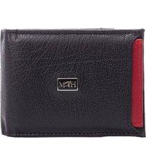porta billetes con tarjetero extraible nero rosso millenium