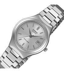 reloj casio dama elegante ltp-1170a-7a color plateado