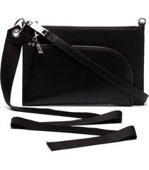 rick owens club zipped pouch bag - black