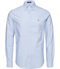 slim oxford shirt bd skjorta business blå gant