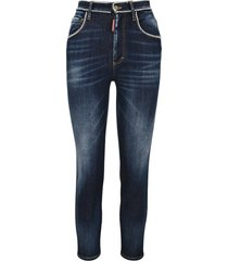 dsquared2 d squared beaded-trim cropped skinny jeans