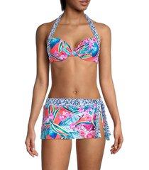 tommy bahama women's printed self-tie bikini top - paradise - size 34 c