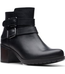clarks collection women's hollis pearl leather booties women's shoes