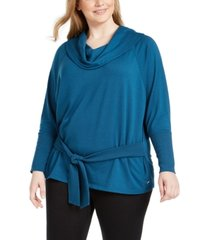 ideology plus size side-tie top, created for macy's