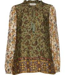 emmeliecr blouse blouse lange mouwen multi/patroon cream