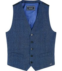 classic gilet in lightweight wool-blend quality
