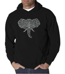 la pop art men's word art hoodie - elephant tusks