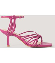 na-kd shoes sandaler med tåring och hälremmar - pink