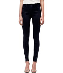 women's l'agence marguerite coated high waist skinny jeans, size 32 - blue