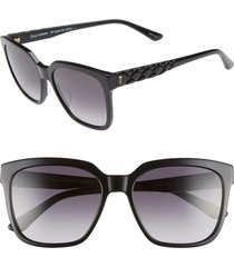 women's juicy couture core 55mm square sunglasses - grey spotted