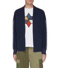 side tape haori open sweatshirt cardigan