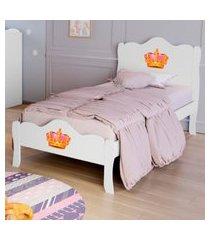 cama solteiro princesa lisa branco casah