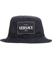 versace technical canvas hat
