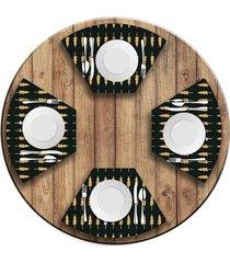 jogo americano   para mesa redonda wevans minimalista pinheiros  love decor