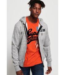 superdry international monochrome zip hoodie