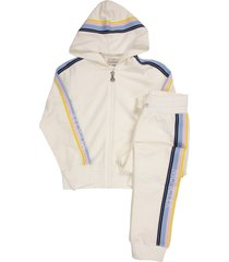 moncler cotton sweatshirt with zip and hood and trousers