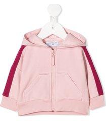 monnalisa teddy bear print hoodie - pink